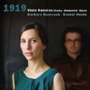 1919. Clarke, Hindemith, Bloch : Sonates pour alto. Buntrock, Heide.