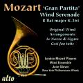 Mozart : Gran Partita K. 361 et arrangements pour vents. Glover, Johnson.